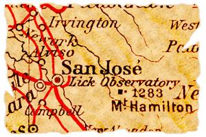 old map of San Jose, California